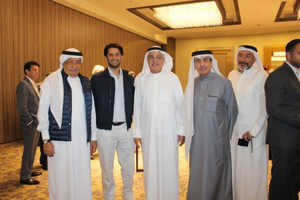 <p><em>Mr Fakhro, second from left, with club members at the event</em></p>