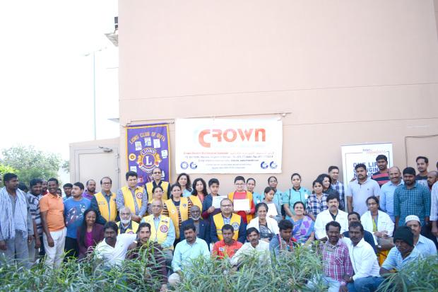 Crown International employees take part in medical camp