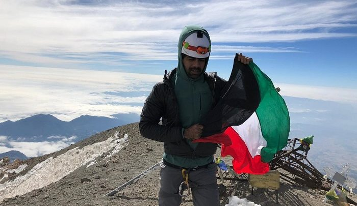 Kuwaiti mountaineer climbs highest stratovolcano summit in America