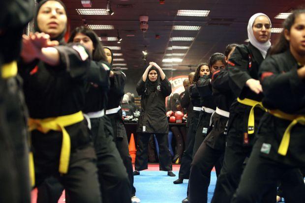 Kuwaiti girls use martial arts to counter bullies and violence