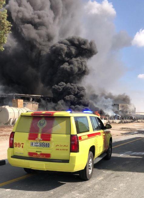 VIDEO: Massive fire in Jebel Ali factory under control