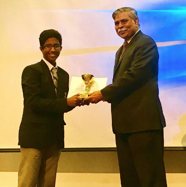 <p><em>Gautam Mahesh, first prize in Hindi solo singing competition</em></p>