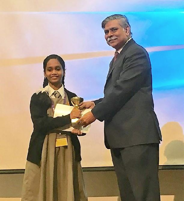 <p><em>Keziah Sara George, first prize in poster making competition</em></p>