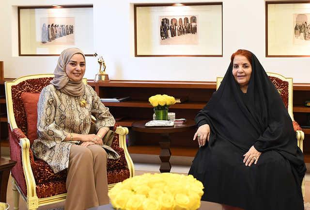 Princess Sabeeka congratulated parliament chairwoman Fouzia Zainal