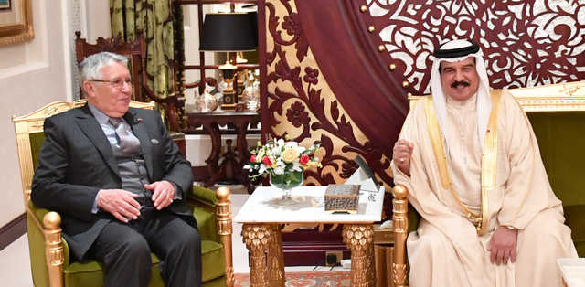 King Hamad received former Moroccan minister of foreign affairs and international co-operation