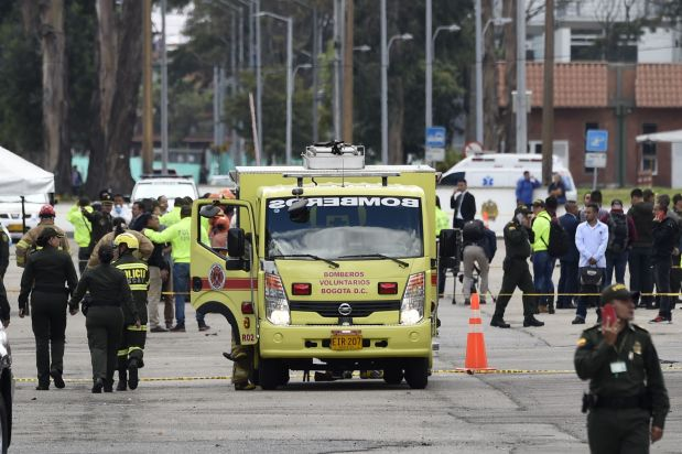 Nine die in car bomb attack on Colombian police academy
