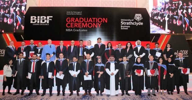 <p><em>BIBF officials, guests and graduates at the ceremony</em></p>