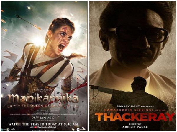 'Manikarnika' and 'Thackeray' do well at box office after two days