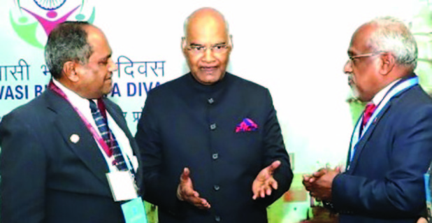 <p><em>At the meeting are, from left, Dr Abraham, Mr Kovind and Mr Kulathakal</em></p> <p>Global Organisation of People of Indian Origin (Gopio) organised a convention in conjunction with Pravasi Bharatiya Divas in Varanasi, Uttar Pradesh state, India.</p> <p>Gopio chairman Dr Thomas Abraham and president Sunny Kulathakal met Indian President Ram Nath Kovind and briefed him on issues faced by non-resident Indians, and presented him with a book, 'Global Indian Diaspora – Gopio Making an Impact'.</p>