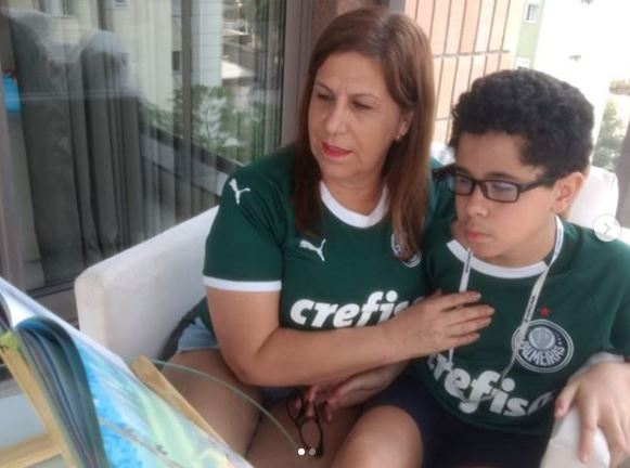 'Goooal!': Brazil mother narrates games for blind son