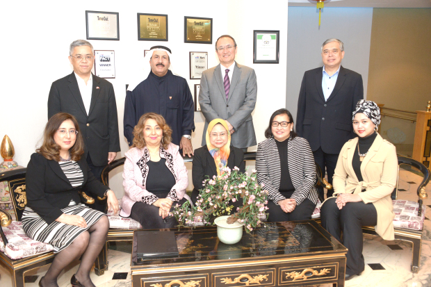 <p><em>At the event are Ms Ahmed, seated centre, along with, standing, from left, Mr Na Songkhla, Dr Al Umran, Mr Anwaer, Mr Ver and their wives</em></p> <p>A farewell dinner was held for outgoing Brunei Darussalam Embassy charge d'affaires Nor Huda Ahmed by Ambassador Dr Dhafer Al Umran.</p> <div>The dinner, at the embassy, was attended by Chinese Ambassador Anwaer, Thai Ambassador Thanis Na Songkhla, Philippines Ambassador Alfonso Ver and their wives.</div>