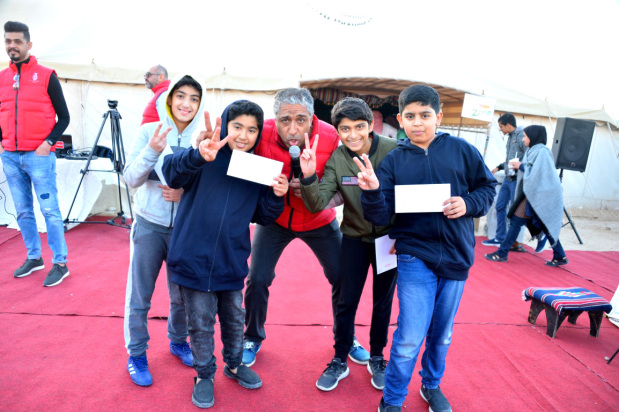 Some of the children who took part in a competition