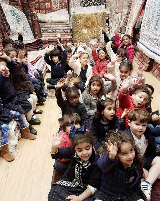 <p><em>The children in one of the carpet shops during their visit</em></p> <p>Thirty-three students from Lamara Preschool went on a field trip to Bab Al Bahrain to explore the suq and its culture.</p> <p>They also had a traditional breakfast at Haji Café and took part in handicrafts as part of the pre-school's theme of the month, 'Bahraini Traditions and Handicrafts'.</p>