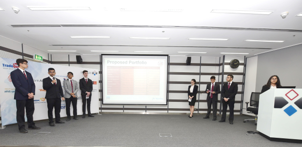 <p>The teams take part in the TradeQuest programme presented their performances during the first trading period at Bahrain Bourse's Business Centre.</p> <div>They also outlined main challenges facing them, risk management techniques, and the performance of the companies in their portfolio.</div> <div></div> <div>The 2018-2019 TradeQuest programme includes 18 school teams and six universities.</div>