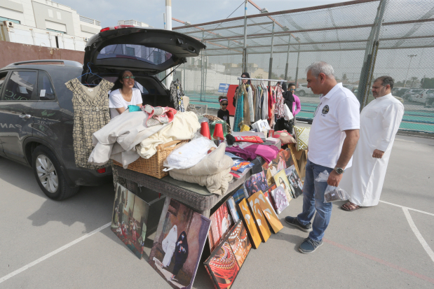 <p>Around BD400 in donations was collected during a car boot sale held yesterday at the Rugby Football Club in Saar.</p> <div>The event was held in support of the Dogfather's Animal Rescue and Rehabilitation Centre and witnessed people from all across Bahrain come together to sell items for a good cause.</div>