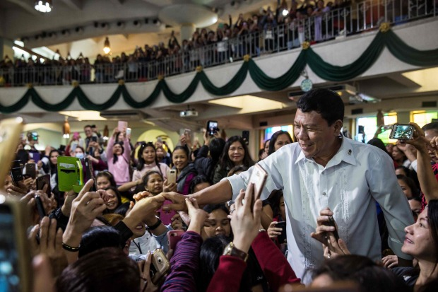 Duterte impersonator sparks frenzy at Hong Kong church