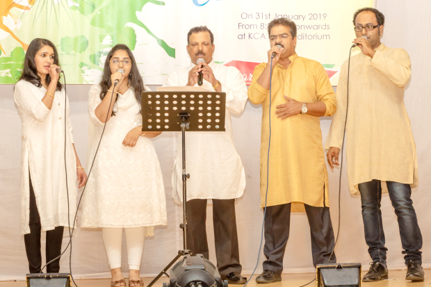 <p><em>Members sing a song</em></p> <p>The Kerala Catholic Association marked India's 70th Republic Day with a cultural programme at its premises in Segaiya.</p> <div>The event featured a Malayalam drama, Snehasparsham (a touch of love) and patriotic songs and dances.</div> <div></div> <div>Sargotsav 2019 – the annual art, literary and sports competitions for members due to be held during April, May and June – was also unveiled on the occasion.</div> <p><em><br /></em></p>