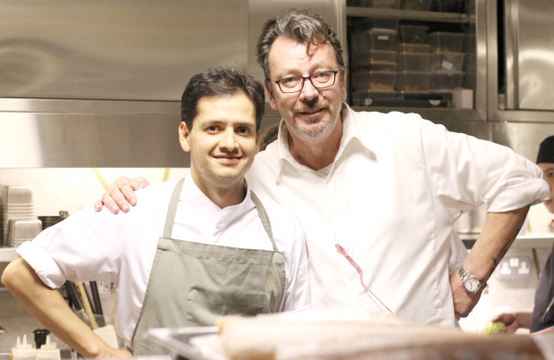 <p><em>Chef </em>Vallejo,<em> left, and chef Pronzato at the dinner.</em></p> <p>Chef Jorge Vallejo, from Mexico, is in Bahrain for a collaboration with fine-dining venue Mahonia.</p> <div>The founder of Mexico City's celebrated restaurant Quintonil is in the Middle East for the first time.</div> <div></div> <div>He is partnering with Mahonia's executive chef Herve Pronzato on a 10-course dining experience called Four-Hands Dinner, which kicked off yesterday and continues today.</div> <p><em><br /></em></p>