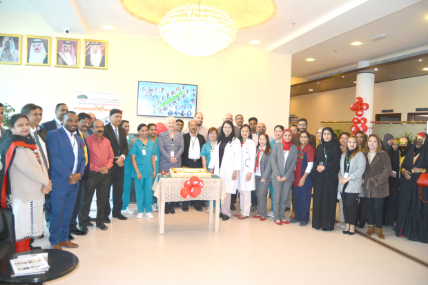 <p><em>Hospital officials, staff members and guests at the celebration</em></p> <p>The American Mission Hospital's Medical and Wellness Centre in Amwaj celebrated its fifth anniversary with free medical check-ups and blood tests as part of its community outreach programme.</p> <div>The event also featured a cake-cutting ceremony which was attended by chief executive Dr George Cheriyan, group chief executive Julia Tovey, service line head Dr Babu Ramachandran and other members of the management and staff.</div>