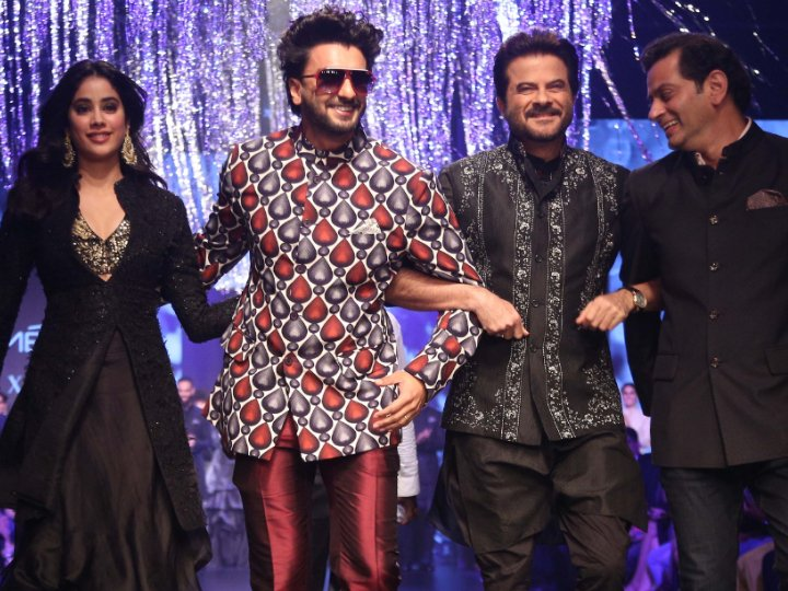 With Anil, Janhvi, Ranveer walking the ramp, it's a mini Takht reunion!