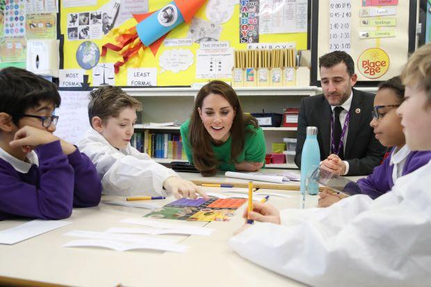 British royal Kate shares family photo on school visit