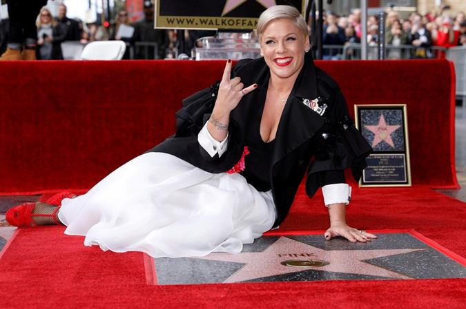 Singer Pink honored with Hollywood Walk of Fame star