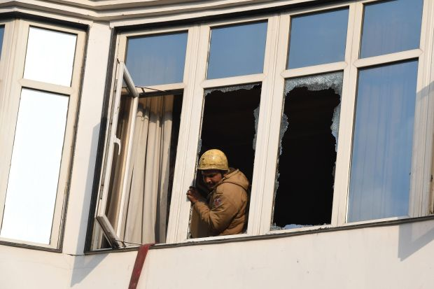 World News: India: Delhi hotel fire kills 17