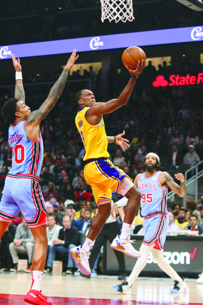 Lakers go down to gritty Hawks