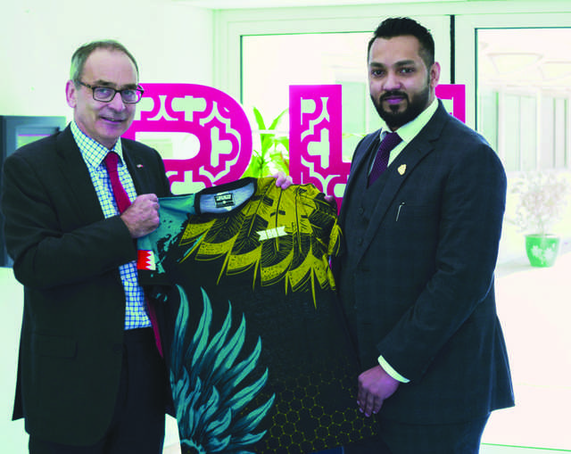 """<p>Brave Combat Federation and KHK Sports president Mohammed Shahid met the United Kingdom's Ambassador to Bahrain Simon Martin and discussed the KHK initiatives, including a Brave event to be held in the UK this year. </p><p>""""I would like to thank Mr Simon Martin for opening the doors to Brave Combat Federation and extending his full support to Shaikh Khalid's initiatives,"""" said Shahid. </p><p>""""We are confident that the upcoming Brave CF event in the United Kingdom will be one of the most important ones till date and will set a new milestone for the fastest growing and truly global MMA promotion in the world</p>"""