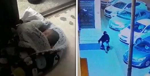 VIDEO: Woman captured dumping baby in front of mosque in Jeddah