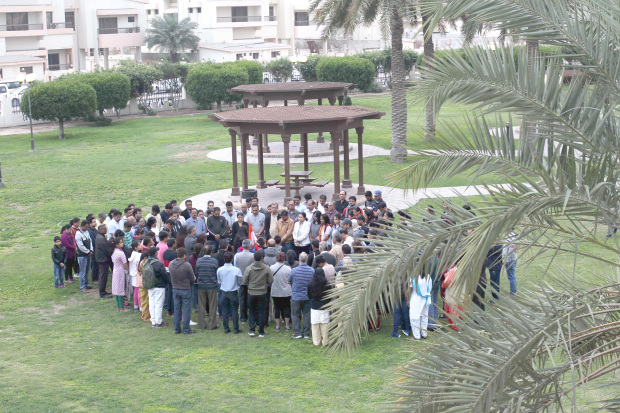<p>Hundreds of people attended a multi-faith prayer for peace at the Andalus Garden in Gudaibiya last night. It was organised by the United India Group to mourn the 44 Indian soldiers killed in a terrorist attack on a military convoy outside Srinagar in Kashmir on Thursday.</p>