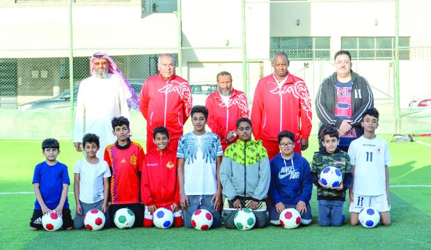 Children display football skills at Al Hajjiyat fields