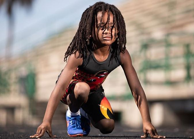 The fastest boy in the world! Seven-year-old runs 100ms in 13.48 seconds