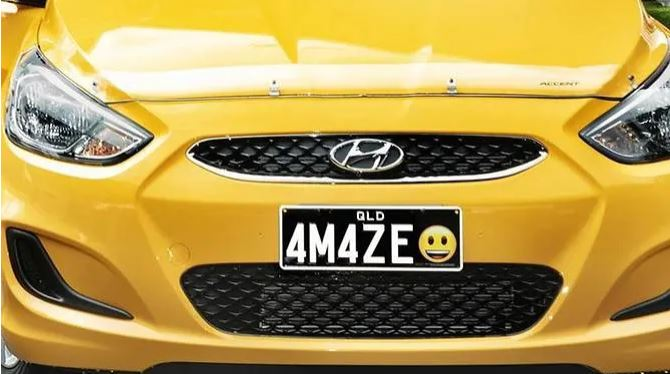 Personality on the morning commute: Australia's emoji licence plates