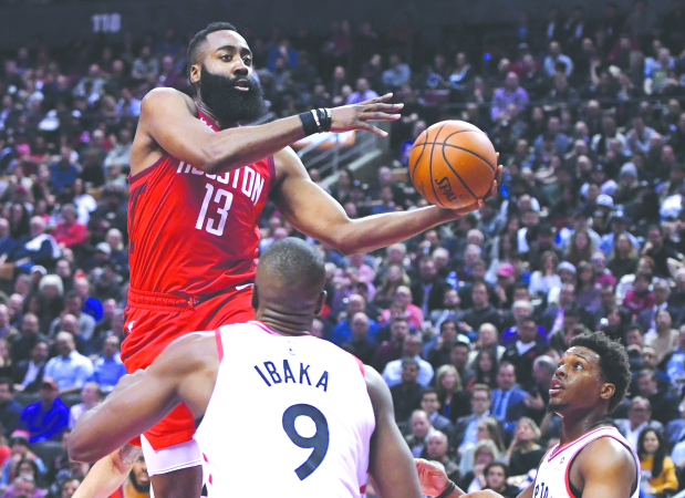 National Basketball Association wrap: Rockets continue to impress with win over Raptors