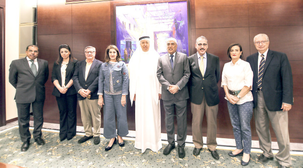 <p>Businessman Mohammed Dadabhai has been elected chairman of the new board of governors of Beacon Private School, Busaiteen. Other members include Shaikha Hind bint Salman Al Khalifa, Abdulnabi Al Shoala, Jamal Fakhro, Abdulkarim Bucheery, Aziz Gilitwala, Habib Modara, Sahar Ataei, Ghada Bouzeineddine and Samir Chamma. Currently, the school has classes up to Grade 4 and an application has already been made to the Education Ministry for permission to offer classes from Grade 5 to Grade 9. The school hopes to have 100 classrooms that can accommodate 2,100 students. The school facilities will include state-of-the-art classrooms, science labs, two libraries and two swimming pools, a gymnasium and canteen when completed. Above, Mr Dadabhai, fourth from right, with other board members</p>
