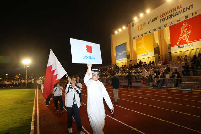 <div>The 12th SABIS Regional Sports Tournament Bahrain 2019 kicked off with a colourful opening ceremony at the International School of Choueifat-Manama yesterday. A total of 1,000 participants representing 25 schools from 13 countries will feature in the event, which concludes on Sunday. Above and left, students during the march past. (Pictures by Sadiq Marzooq) </div>