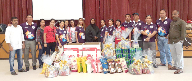<p>A charity donation of food items and other essential items was made to the Islamic Association in Hidd by the International Support Group Bahrain, a member of the Philippines-based Guardians Delta Force International Incorporated. Above, members of the group and association with the donations.</p>