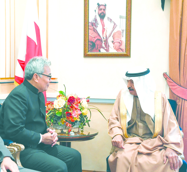 Boosting economic co-operation between countries promotes investment and entrepreneurship, the Premier said yesterday. He affirmed Bahrain's keenness to bolster relations with Malaysia and enhance economic partnership, pointing out the promising capabilities of the two countries given the location of Bahrain as a gateway to the Gulf and a regional financial and investment hub. He also underlined the need to take advantage of Malaysia's capabilities and distinguished status in the Association of Southeast Asian Nations (Asean). The Premier was speaking as he received  Malaysian Entrepreneur Development Minister Datuk Seri Mohd Redzuan Yusof.