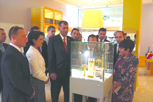<p>A Spanish designer showcased her latest jewellery line representing Bahrain's heritage. The Dilmun Jewellery Line called 'Sand of Times and Sea of Blue' was displayed at Bahrain National Museum's Gift Shop yesterday. It was hosted on the occasion of International Day for Sites and Monuments and was attended by officials from the Bahrain Authority for Culture and Antiquities.</p>