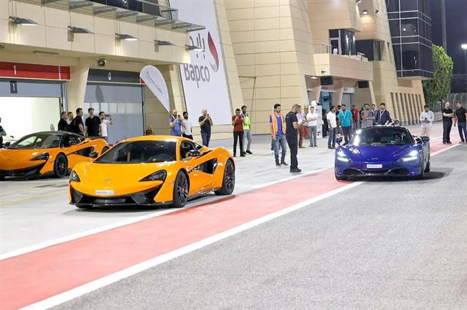 Car lovers have a close look at McLaren models