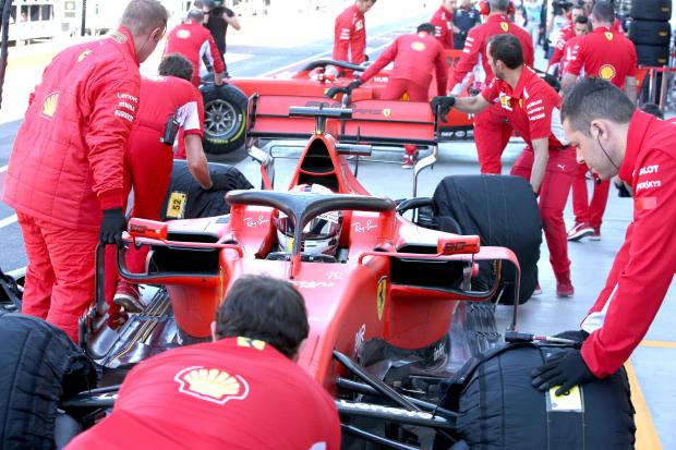 Ferrari set pace