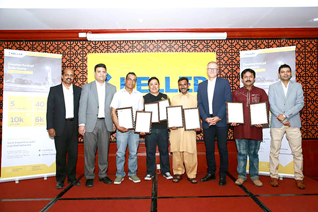 <p><em>At the ceremony are from left, Mr Elango, Mr Ali, Mr Camus, Mr Lagman, Mr Anwar, Mr Michalski, Mr Iqbal and Mr Ahmed</em></p>