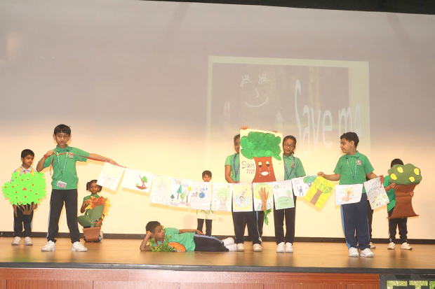 <p>The New Millennium School-DPS celebrated World Environment Day with 'Clean NMS, Green NMS' and 'Say No To Plastic' campaigns. Poster-making, recycling of e-waste, a plantation drive and transforming paper and old T-shirts into bags were some of the activities held to mark the day. Students also took a pledge not to dirty the oceans and beaches, and take care of the environment. Above, students performing a skit to mark World Environment Day.</p>
