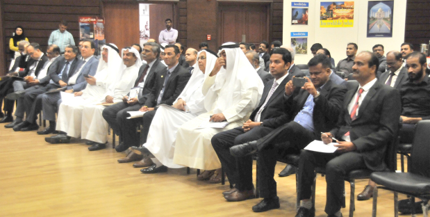 <p>Bahraini businessmen were last night urged to attend a key meeting that will be held in Goa, India in the coming months. The Indian Embassy in association with Vibrant Goa Foundation organised a roadshow that was held at the embassy premises in Seef District. Businessmen were urged to take part in the Vibrant Goa Global Expo and Summit that will be held from October 17 to October 19. A delegation from Goa from different sectors such as food, building materials, construction and renewable energy are visiting Bahrain to engage with local business community. Ambassador Alok Kumar Sinha addressed the gathering and said the Indian government in the past three years has created an environment for investors.&nbsp; He said bilateral trade between Bahrain and India has recored over 25per cent to 30pc growth each year in the past two years and they were confident of reaching $2 billion trade turnover in the next three years. Above, Mr Sinha and dignitaries listen to speakers representing Indian companies.</p>