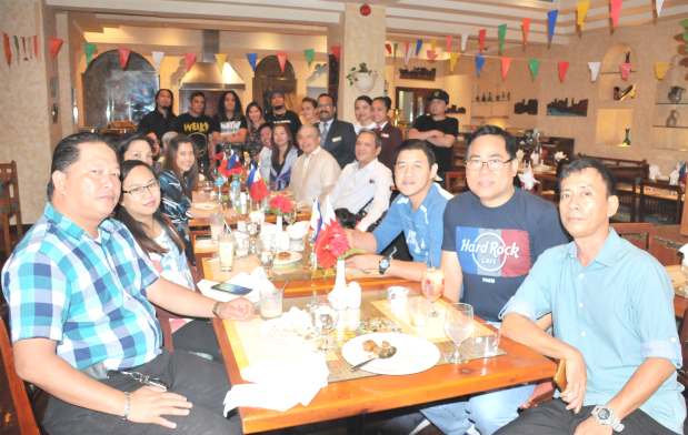 <p>A three-day festival that showcases the best in Filipino cuisine opened at the Delmon International Hotel last night. The Pinoy Food Festival was inaugurated by Philippine Ambassador Alfonso Ver and runs until Thursday, daily from 7pm until midnight. Above, the ambassador with guests at the festival.</p>