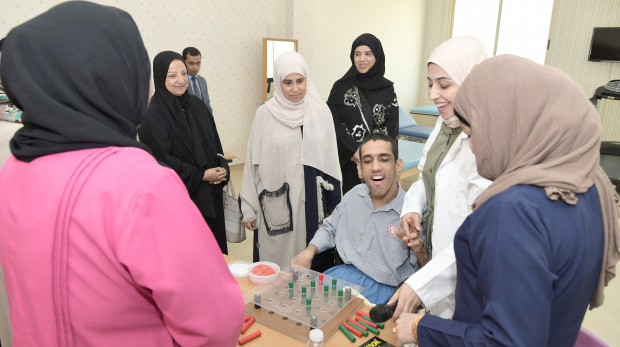 <p>A physiotherapy unit for disabled people opened at the Abdulla Ali Kanoo Centre for Disability Diagnosis and Evaluation, part of the Comprehensive Disability Complex.</p><p>Labour and Social Development Ministry assistant under-secretary for social welfare and rehabilitation Shaikha Aisha bint Ali Al Khalifa inaugurated the new facility.&nbsp;</p><div>The unit, the first of its kind in Bahrain, will especially serve people with cerebral palsy.</div>