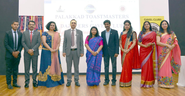 <p><em>At the ceremony are, from left, sergeant-at-arms Vishnu Murali, treasurer Sumesh M R, secretary Aathira Menon, Area 10 director Anil Pachlangia, vice-president (public relations) Sigi Lal, vice-president (membership) Ramesh K T, vice-president (education) Nikitha Krishnadas, Ms Sajeevan and immediate past president Chitra Ramesh</em></p> <p>The Palakkad Toastmasters Club, Bahrain held an installation ceremony for its new executive committee members at Bahrain Carlton Hotel, Adliya.&nbsp;</p> <div>The new team is led by president Deepa Sajeevan.&nbsp;</div> <p><em><br /></em></p>