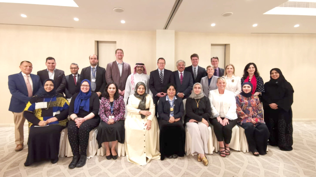 <p><em>Embassy officials with the BTC faculty</em></p> <p>A special lunch was hosted by US Ambassador Justin Siberell to celebrate the partnership between the US Embassy and the Bahrain Teachers&rsquo; College (BTC).&nbsp;</p> <div>The event at Hotel Sofitel Bahrain Zallaq Thalassa Sea and Spa was attended by Education Under-Secretary Dr Muhammad Mubarak Juma, Bahrain University president Riyadh Hamzah and BTC dean Ted Purinton.&nbsp;</div> <p><em><br /></em></p>