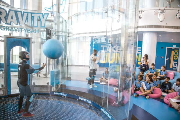 <div><i>STEM programme at Bahrain&rsquo;s first skydiving indoor facility.</i></div> <div><i><br /></i></div> <p>Twenty students from the Capital School Bahrain visited Gravity Indoor Skydiving in Zallaq to take part in its new Science, Technology, Engineering and Math (STEM) programme.&nbsp;</p> <div>They were briefed on the link between science and technology, and took part in related activities.&nbsp;</div>